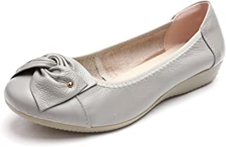 Odema Womens Leather Loafers Flats Moccasins Driving Shoes Casual Walking Shoes Size ...