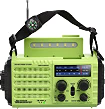 Portable Emergency Solar Hand Crank Radio, 5-way Powered AM/FM/SW/NOAA Weather Alert Radio, Power Bank for Phone Charger, ...