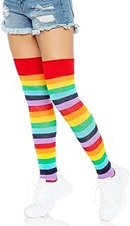 Leg Avenue Women's Lycra Acrylic Rainbow Thigh High Stockings