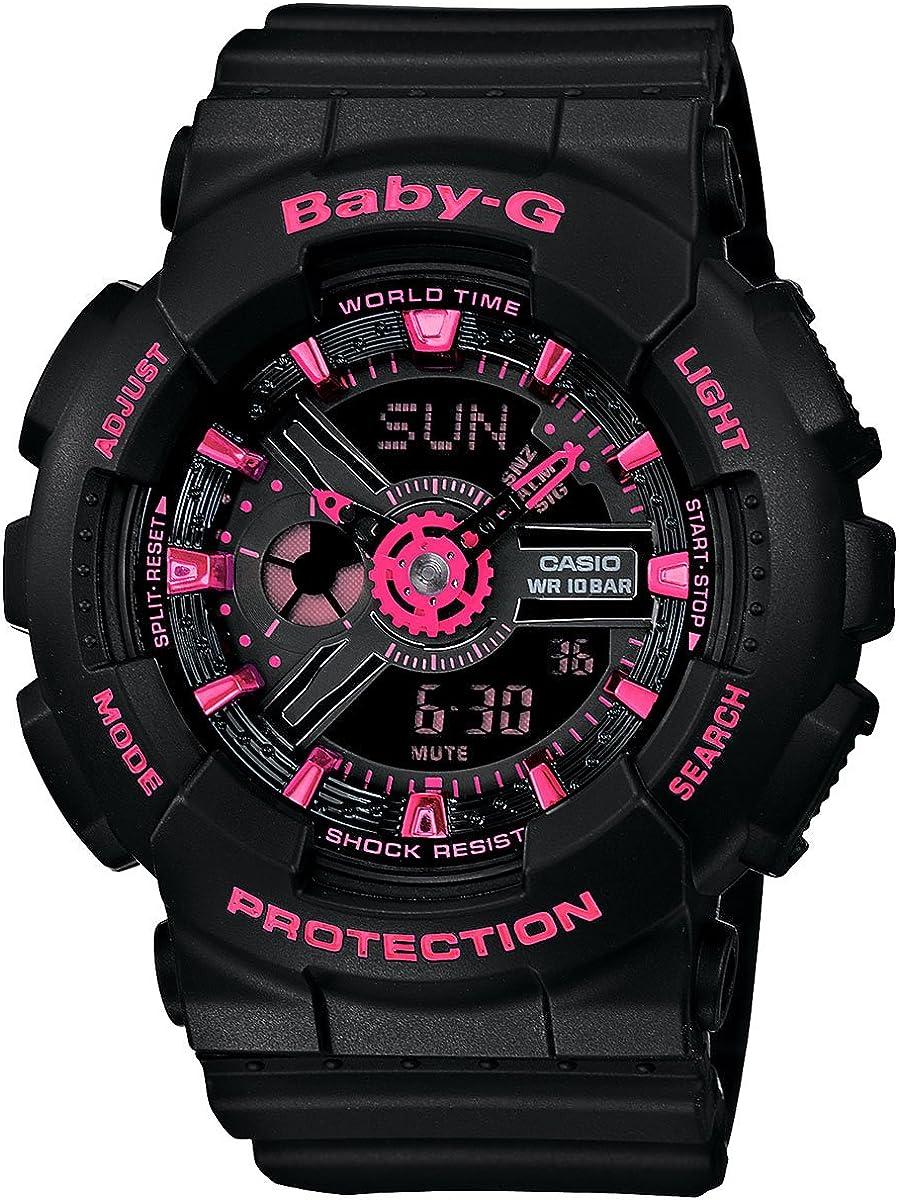 Cheap sale Casio Women's Baby-G BA111-1A Black Watch Quartz Plastic Detroit Mall