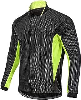 Men's Cycling Long Sleeve Windproof Windbreaker Winter Full Zipper Cycling Jacket