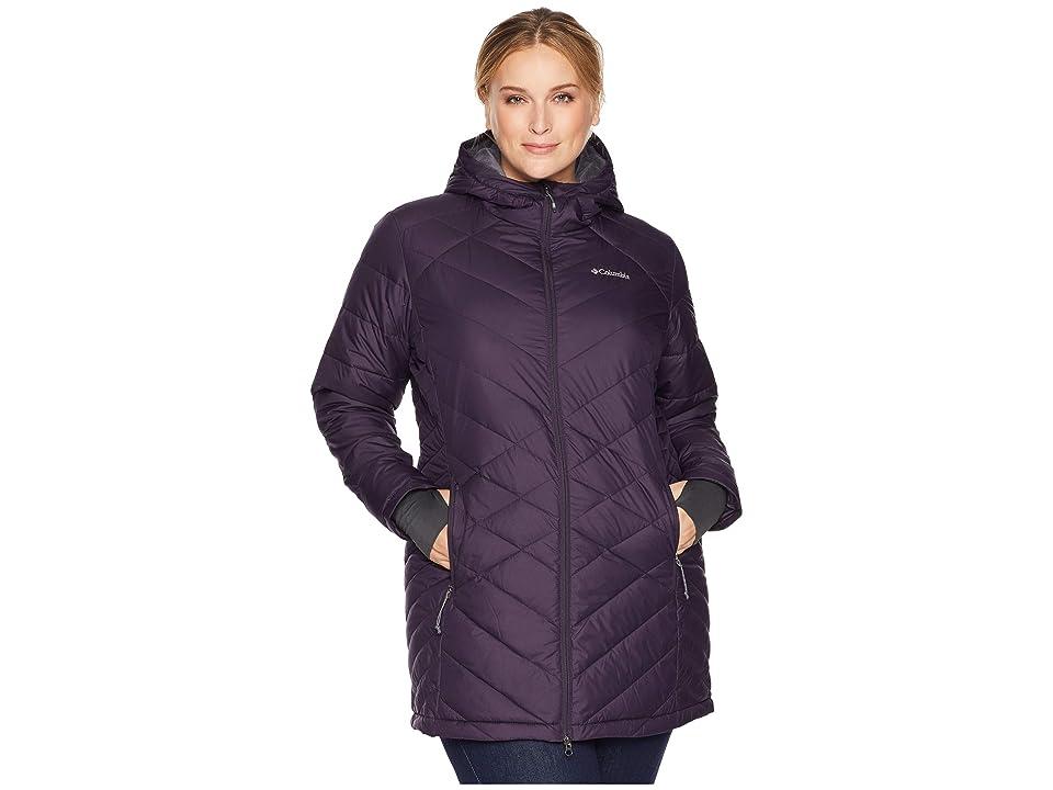 Columbia Plus Size Heavenly Long Hooded Jacket (Dark Plum) Women