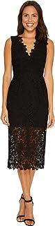 Jill Jill Stuart Women's Lace Deep-v Mid-Length Dress