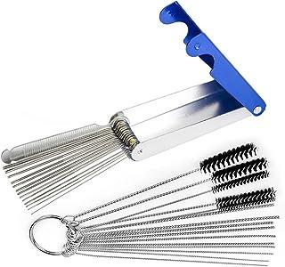 Holoras Carburetor Kit de herramientas de limpieza de suciedad de carbono, 3 en 1 para