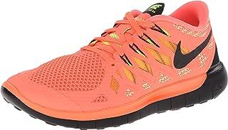 Nike Free 5.0 Ladies Running Shoe, Orange/Black, US10.5