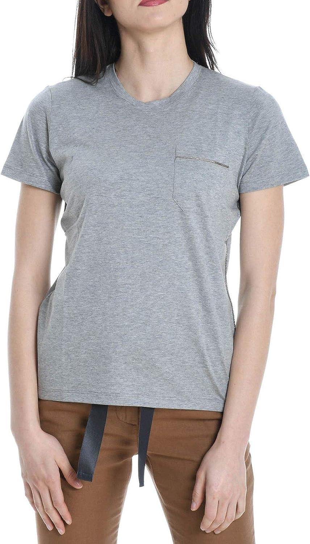 Eleventy Women's 980TS0071TSH2501213 Grey Cotton TShirt