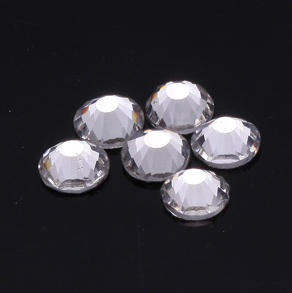 強化するかみそり鍔1440粒ガラス製ラインストーン ネイル デコパーツ クリスタル (1.2mm (SS3) 約1440粒)