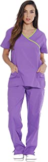 Women's Scrub Sets Medical Scrubs (Mock Wrap)