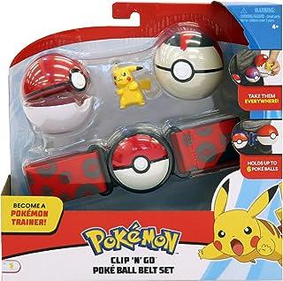 Pokèmon Pikachu Conjunto de cinturón Clip & Go Poke Ball ¡Conviértete En Un Entrenador Cinturón Clip N Go Poké Ball!