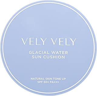 VELY VELY Glacial Water Sun Cushion 13g - SPF50+, PA++ - Soothes, Hydrates, Cools Down Skin, Moisturize With Glacial Water, Natural Skin Tone Up