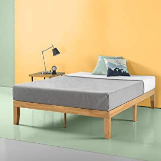 Zinus Moiz 14 Inch Wood Platform Bed / No Box Spring Needed / Wood Slat Support / Natural..