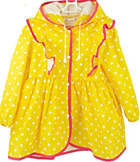 SFNLD InStar Kids Animal Zoo Collection Button Down Hooded Rain Cape