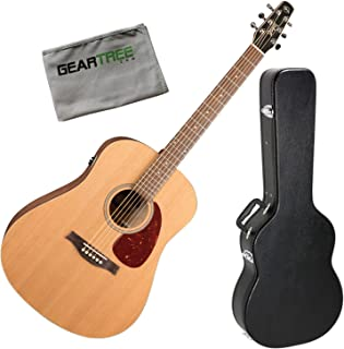 Seagull 46393 S6 Original QIT Acoustic Electric Guitar w/Case and Cloth