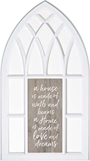 P. Graham Dunn A Home is Made of Love White 38 x 22 Wood Decorative Wall Window Plaque