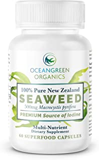 SEAWEED Kelp Supplements NEW ZEALAND |100% Pure ORGANIC & NATURAL | Strongest IODINE 550mcg | Natural Multi-Vitamin | Ocea...