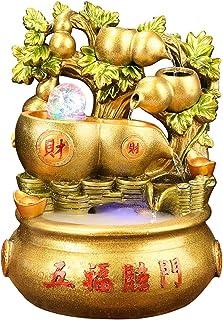 Zen Meditation Waterfall 15.1 بوصة الذهبي الوعي نافورة المياه الديكور داخلي الاسترخاء الشلال ميزة - ل غرفة المعيشة الديكور...