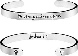Christian Bracelet Bible Verse Jewelry Religious Gift for Women Inspirational Scripture Cuff Bangle Friend Encouragement