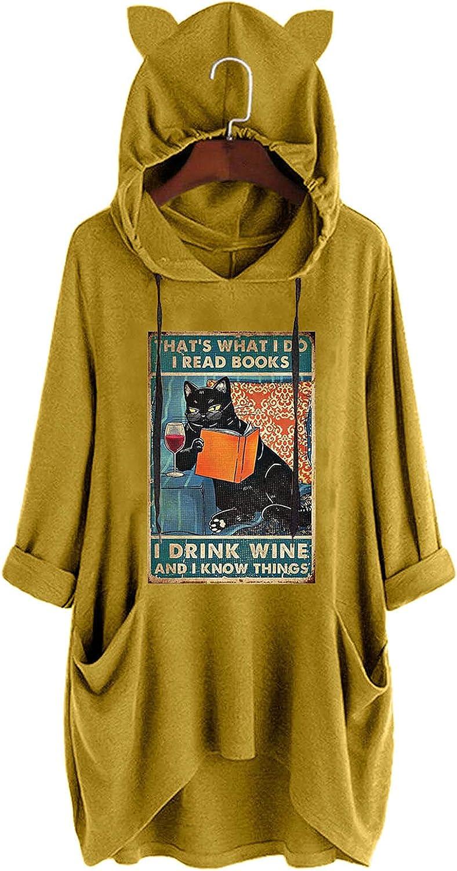 JMMSlmax Women Long Sleeve Hoodies Blosue Top Hooded Pullover Tops Blouse Basic y2k Vintage Sweatshirt