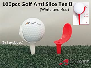 "100pcs/pack A99 Golf Anti-Slice Tee 3 1/4"" (83mm) Long"