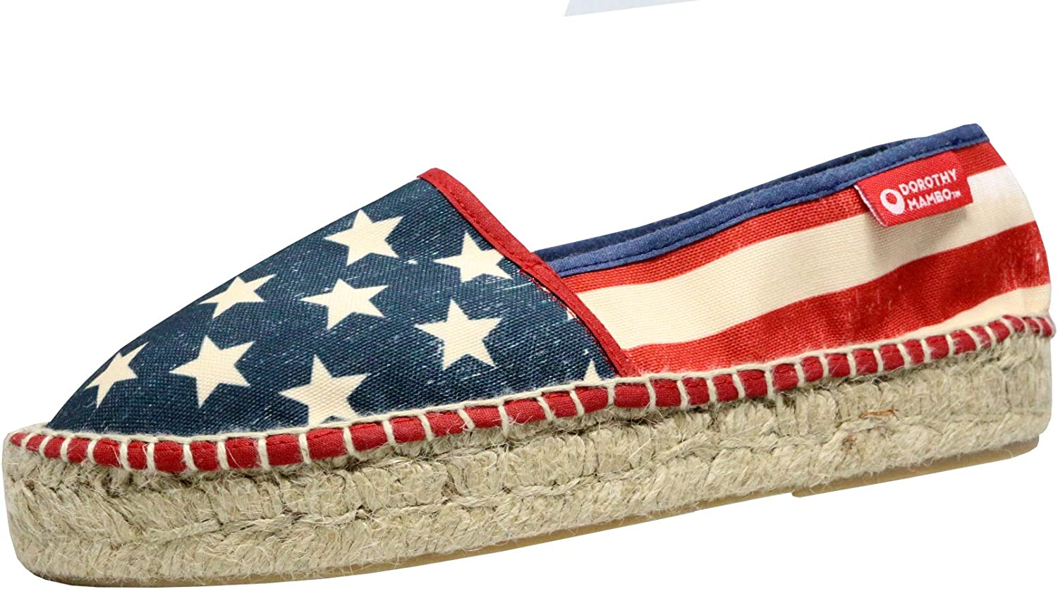 Dgoldthy Mambo x Fusion Kawaii Espadrille Slip-on Loafer Vintage US Flag Made in Spain bluee