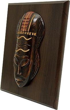 "Wisdom Mask Wall Plaque (9"" x 7"") - Handmade in Ghana"