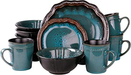 featured product Elama EL-MYSTICWAVES Mystic Waves 16 Piece Dinnerware Set,  16pc