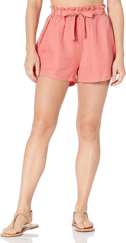 Seafolly Women's Standard Linen Blend Drawstring Waist Beach Short Swimsuit Cover Up