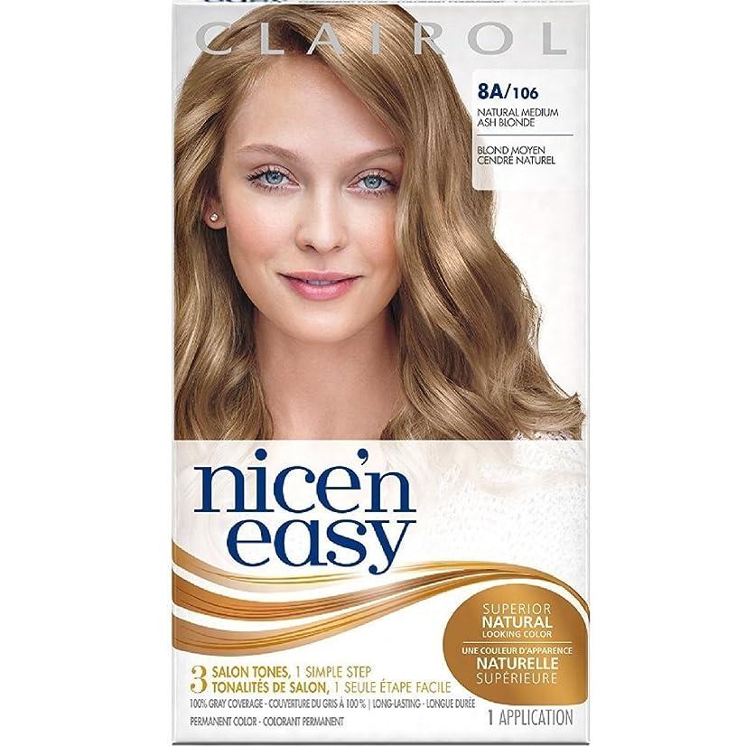 Clairol Nice 'n Easy Permanent Color, [8A] Medium Ash Blonde 1 ea (Pack of 4)