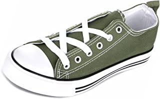 Haughty Girls Canvas Shoes Tie up Slip on Sneakers Laces Children Causal Comfortable Cap Toe Shoes Kids Boys Toddlers