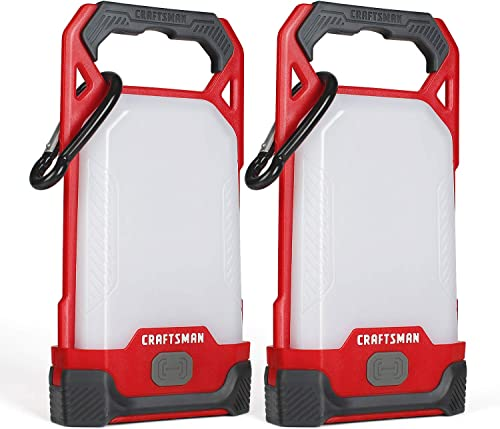high quality Craftsman sale LED Camping Lantern, Battery Powered online sale & IPX4, Perfect Flashlight for Hiking, Home, Hurricane Emergency Survival Kits, AAA Alkaline Batteries Included(2 Pack) online