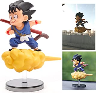 COSMOSS Dragon Ball Z Goku Car Dashboard Decoration Flying Action Figure Toy Collection, Stick-on Window or Standalone [Not an Official Dragon Ball Product]