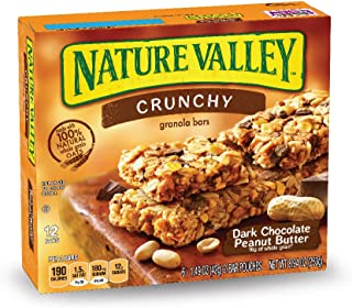 Nature Valley Peanut Butter Dark Chocolate Crunchy Granola Bars, 8.94 oz(us)