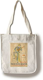Exposition nice-cote D 'azurヴィンテージポスター(アーティスト: Cocteau )フランスC。1954 Canvas Tote Bag LANT-74030-TT