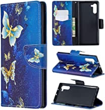 Galaxy Note 10 Case, Note10 5G Case, iYCK Premium PU Leather Flip Folio Magnetic Closure Protective Shell Wallet Case Cover for Samsung Galaxy Note 10 6.3inch with Kickstand Stand - Gold Butterfly