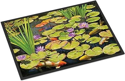 Caroline's Treasures Koi Pond II Door Mat doormats, Multicolor