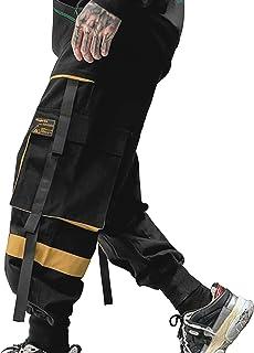 XYXIONGMAO Streetwear Harem Pants for Men Hip Hop Techwear Pants Youth Leisure Sports Multi-Pocket Loose Casual Dark Overalls