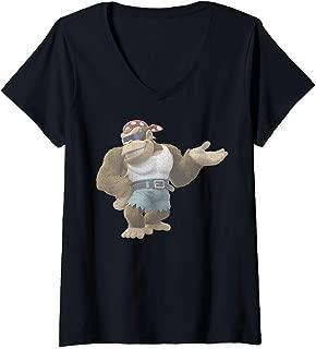 Womens Nintendo Donkey Kong Country Funky Kong Simple V-Neck T-Shirt