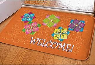 Freewander Christmas Doormats Cute Indoor Outdoor Non Slip Durable Washable Funny Home Decorative Xmas Welcome Door Mats R...