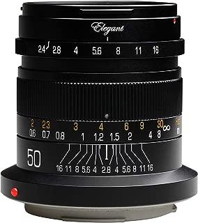 KIPON Elegant 50mm F2.4 Full Frame Lenses for Canon EOS R Mount Mirorless Camera (Black)