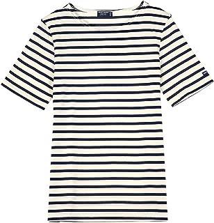 Saint James Unisex Levant Modern Stripe Shirts 9863-50 Ecro/Marine