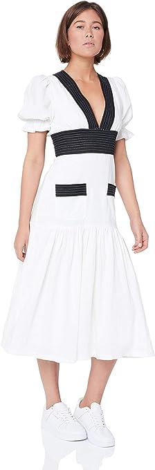 Vestire Women's ONLY Girl MIDI Dress, Black/White