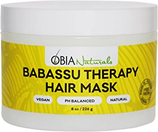 OBIA Naturals Babassu Therapy Hair Mask - Hydrating Deep Conditioner - Repairs Dry Hair, Damaged Hair, Textured Hair, Curly Hair, Natural Hair or Color Treated Hair After Shampoo - Sulfate-Free, Vegan, 8 Ounce
