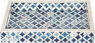 صفحه اصلی صنایع دستی 12x8 Indigo تزئینی سینی صبحانه قهوه جدول بالا دستباف دستمال سینی از