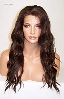 4.30 Dark Brown W/Auburn Highlights : Gorgeous Wavy Layered Long Lace Front Wig Heat Safe Yvo (4.30 Dark Brown W/Auburn Highlights)
