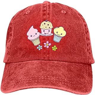 LeoCap Kawaii Dessert Baseball Cap Unisex Washed Cotton Denim Hat Adjustable Caps Cowboy Hats