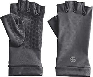 UPF 50+ Men's Women's Ouray UV Fingerless Sun Gloves - Sun Protective