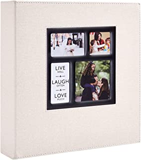 Ywlake Photo Album 4x6 1000 Pockets Photos Linen Cover, Extra Large Capacity Family Wedding Picture Albums Holds 1000 Horizontal and Vertical Photos Beige