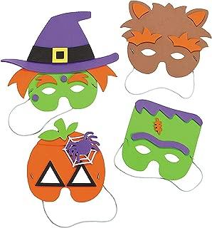 Halloween Mask Craft Kit - Crafts for Kids & Hats & Masks, 1 dozen Assorted Masks