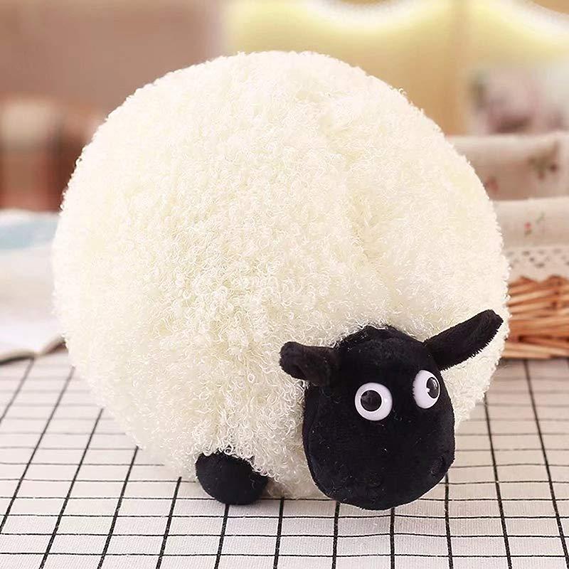 Meiyiu Cute Cartoon Sheep Plush Toys Soft Comfortable Cushion Pillow Plush Pillow Stuffed Animals For Sleeper Toys Home Decoration White 35CM
