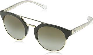 36e37ede6b58 Emporio Armani EA4092 55788E Militay Green/Pale Gold EA4092 Round Sunglasses  Le